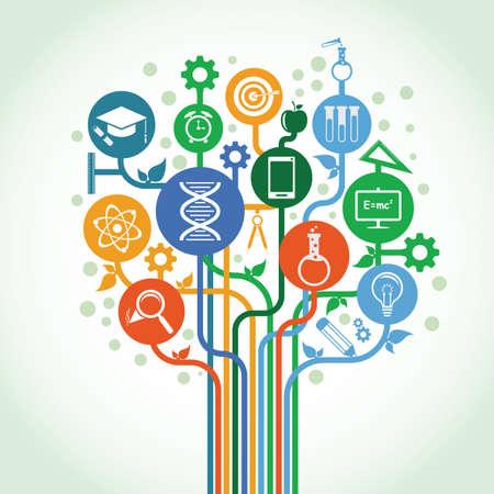 教育科学の概念  イラスト・ベクター素材