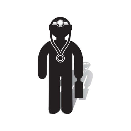 Doctor with a briefcase icon.