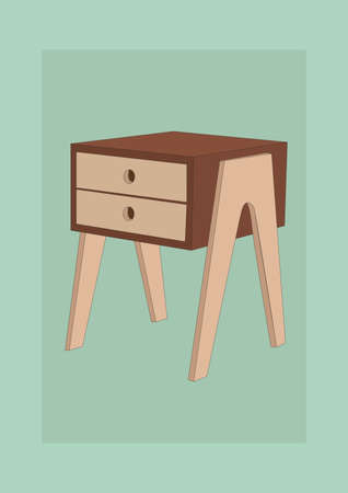 side table Stock Vector - 81536841