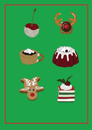 Sammlung von Weihnachts-Snacks Standard-Bild - 81536847