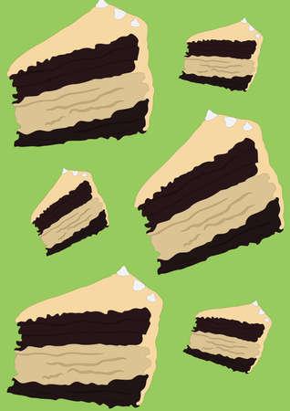 cake slices background