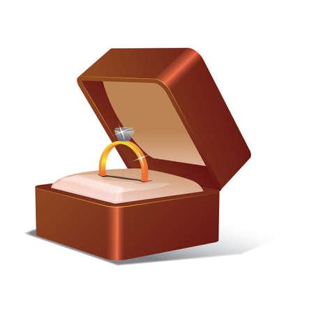 wedding ring in a box