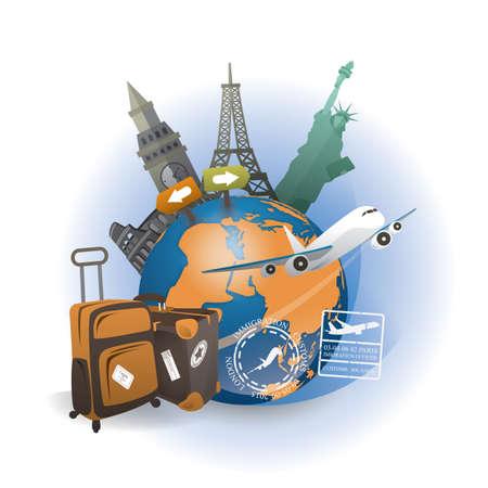 travel the world concept Reklamní fotografie - 106674930