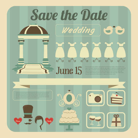 wedding invitation Ilustração