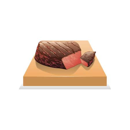 steak gesneden