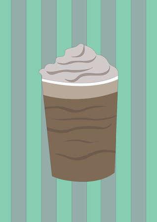 ミルクセーキをカップで  イラスト・ベクター素材