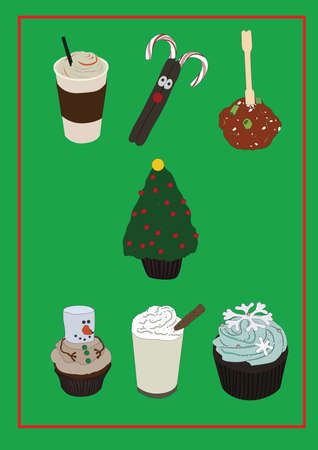 collection of christmas snacks