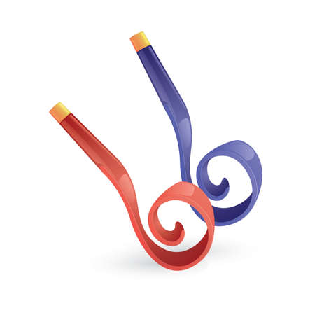 party blowers Ilustrace