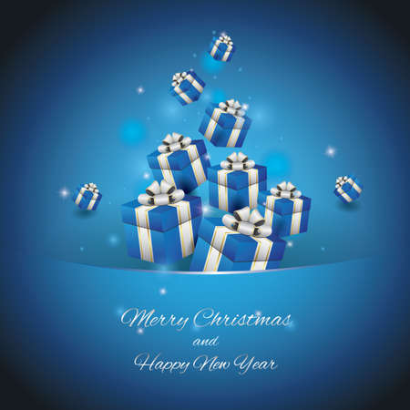 Christmas and new year greeting. Illustration