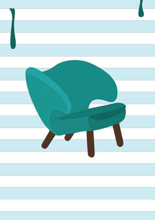 modern chair Ilustrace