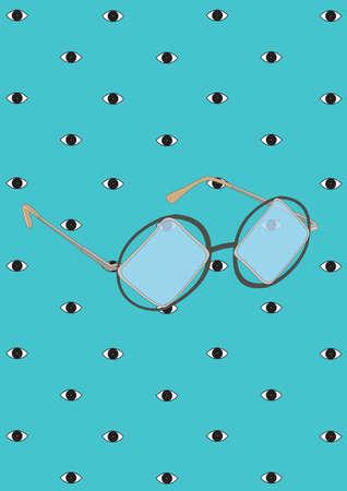 Gafas de la vendimia Foto de archivo - 81419791