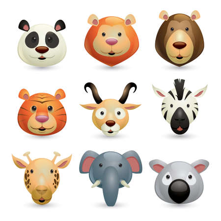 verzameling van wilde dieren Stock Illustratie