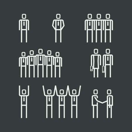 outline of people Ilustrace