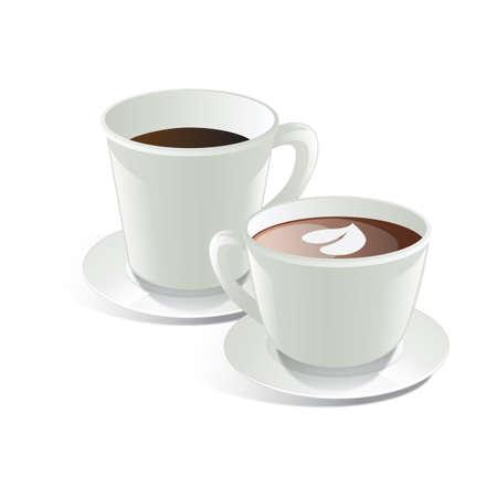 뜨거운 커피 2 잔