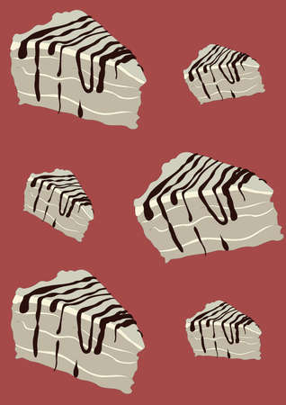 cake slices background Imagens - 81419809