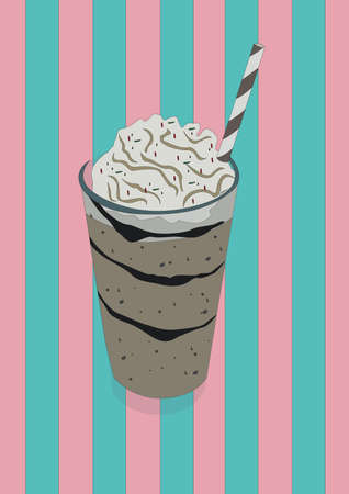 milkshake in a glass 向量圖像