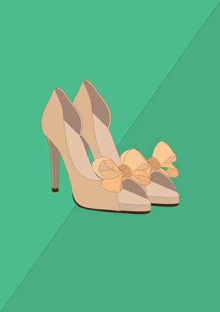 high heel shoes Standard-Bild - 106674981