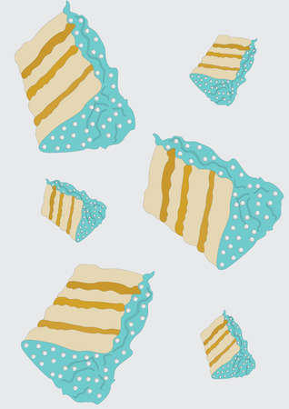 cake slices background Imagens - 81419817