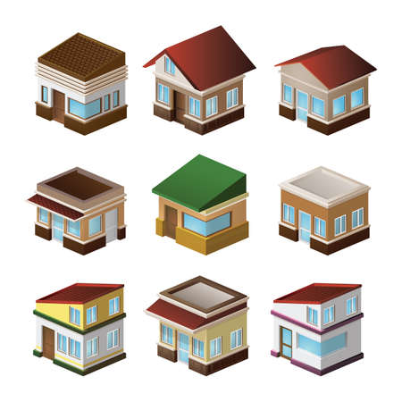 house collection Иллюстрация