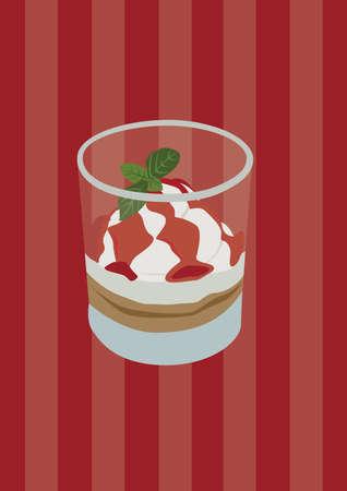 カップ デザート  イラスト・ベクター素材