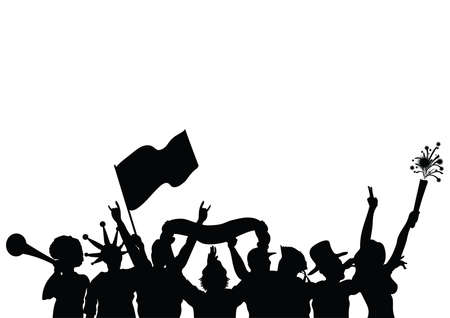 silhouette of people celebrating