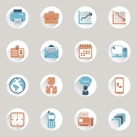 business icons Illusztráció