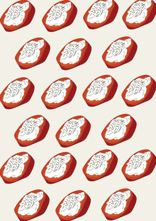 bruschetta background design