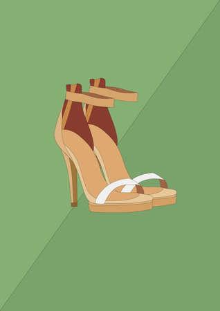 high heel shoes Reklamní fotografie - 106675015