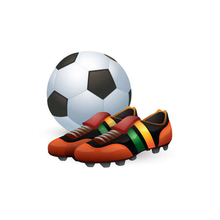 soccer ball with boots