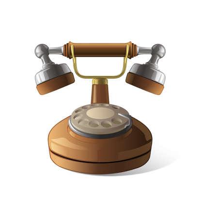 vintage telephone Ilustração