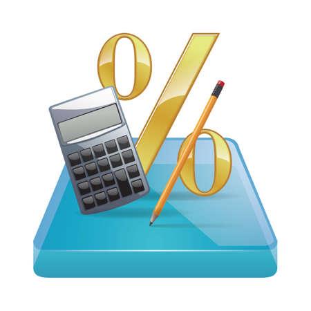 calculation concept Illustration