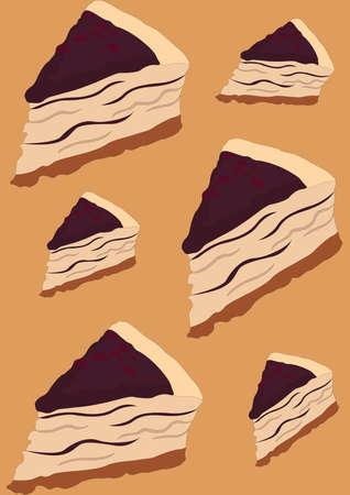 cake slices background Imagens - 81419936