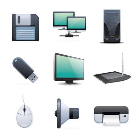 Sammlung von digitalen Geräten und Maschinen