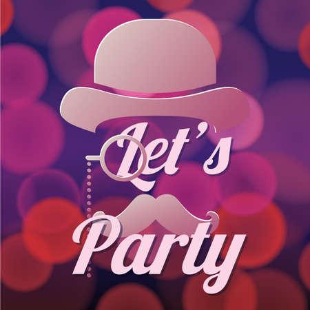 Laat party ontwerp Stockfoto - 81538486