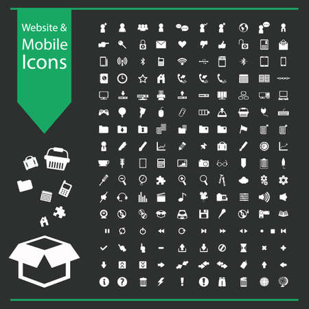 website and mobile icon collection Çizim