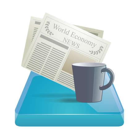 newspaper and a mug