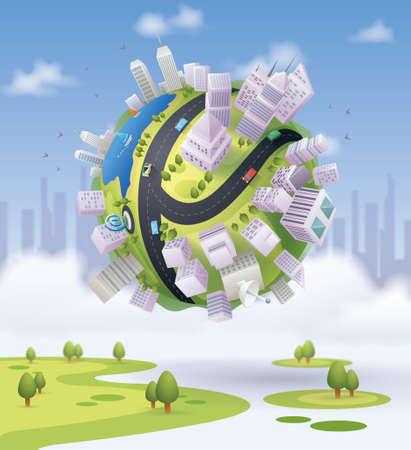 globo de la ciudad