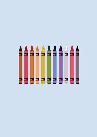 다채로운 크레용 일러스트