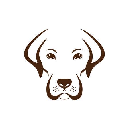 簡単な犬のデザイン。