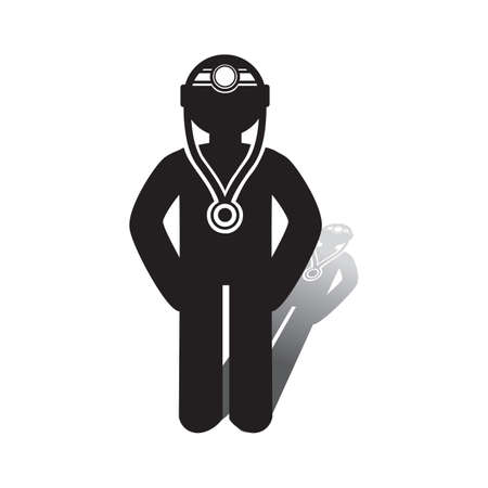 Doctor icon. Illustration