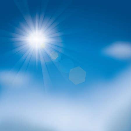 glaring sun in the sky