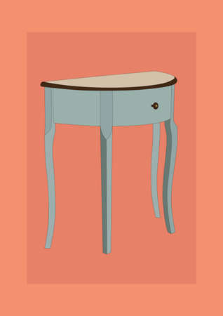 side table Stock Vector - 106675069