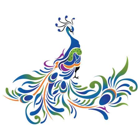 peacock pattern icon Illustration