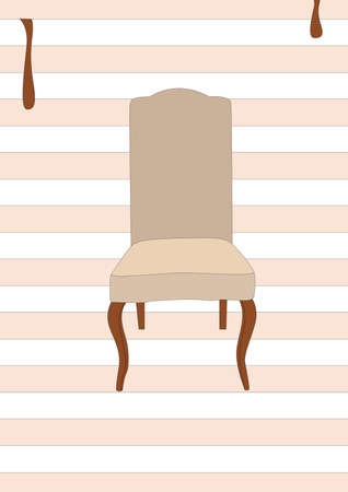 dining chair Ilustrace