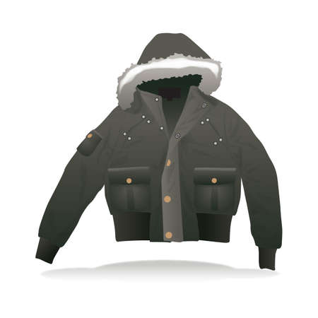 winter jacket Ilustrace