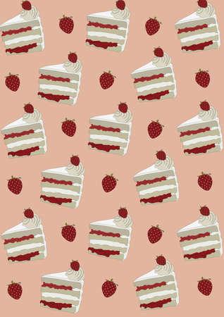 cake slices background Imagens - 81419976