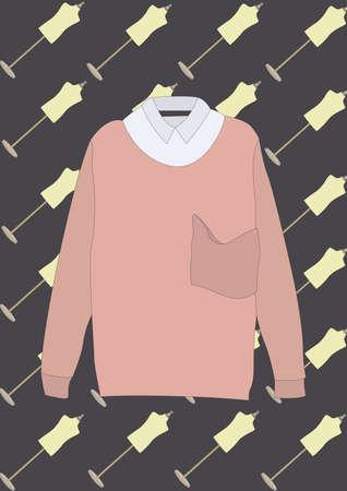 Longue blouse à manches Banque d'images - 81536942
