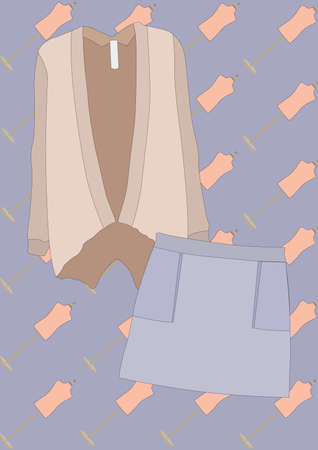 top and skirt Illustration