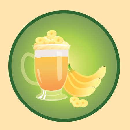 バナナ ジュース  イラスト・ベクター素材
