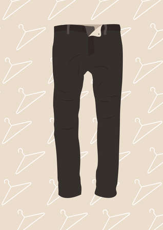 black trousers Illustration